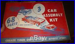 Vintage Amt 1953 Ford Pontiac 3 Car Promo Kits 125 Model Car Mountain