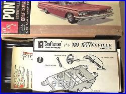 Vintage Amt 1960 Bonneville Hardtop Model Craftsman Series Complete New Nib