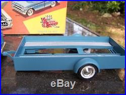Vintage Amt 1960 Ford F-100 Assembled Kit Truck Trailer Box And Instructions