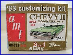 Vintage Amt (1963)'63 Chevy II / Nova 400 Convertible Model Kit (complete)