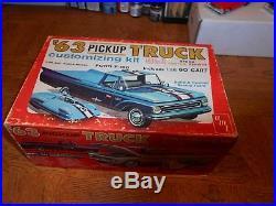 Vintage Amt 1963 Chevrolet Fleetside P/u Truck - Mint/unbuilt - Rare
