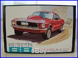 Vintage Amt (1968)'68 Ford Mustang 2+2 G. T. Fastback Customizing Model Kit