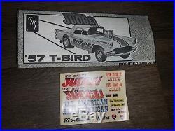 Vintage Amt Ford 427 T Bird HERE COMES THE JUDGE Gasser 1/25 Model Kit