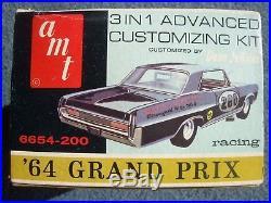 Vintage Amt Kit 1964 Pontiac Grand Prix Model Kit Number 6654-200