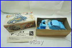Vintage Amt Model Car Kit 1940 Ford Deluxe Coupe Trophy Series Box 2140-150