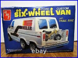 Vintage Amt Rascal Six Wheel Ford Van With Trail Mini Bike. 2502. Sealed Inside