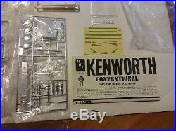 Vintage Amt T560 Movin On Kenworth Truck Model Kit Sealed Parts Complete 1/25