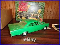 Vintage Early AMT'65 Ford Galaxie Jolly Green Gasser 1/25 RARE #T334 Drag Car