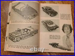 Vintage MODEL CAR HANDBOOK Hot Rod custom how to kit Drag Racing car truck 1961