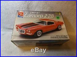Vintage Model Kits-1970 1/2 Chevy Camaro Z28-amt-partially Built-1/24 Scale