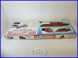 Vintage Model Shipways MISS ADVENTURE RC Racing Boat Flyer Mahogany KIT 1830