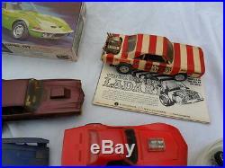 Vintage Original 1960's Model Car Lot MPC AMT Boxes, Cars, Parts, Decals NO RES