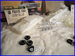 Vintage Original Amt Chevelle Drag Team Unbuilt Sealed Inner Bags Kit# T360