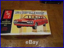 Vintage Plastic Model Kit Of An Amt 1964 Chevelle Station Wagon # 8744 200