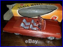 Vintage Rare AMT Promo Dealer Friction Car F 112 Ford Galaxy Convertible Brown