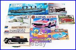 Vintage Revell Monogram AMT LOT of 8 Model Kits Titanic Corvette Ford Dassault +