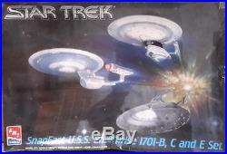 Vintage STAR TREK Enterprise B, C, E 3 Ship Set Model Kit-AMT-FREE S&H(STMO-8002)