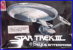 Vintage STAR TREK III Movie Enterprise Model Kit-AMT-FREE S&H(STMO-6675)