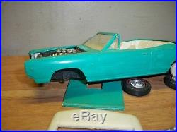 Vintage Screw Bottom Chassis Amt 1968 Coronet Rt Convertible, Restorable