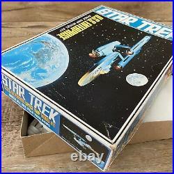 Vintage Star Trek AMT USS Enterprise Space Ship Model Kit Long Box Version 5