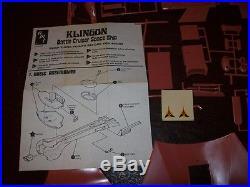 Vintage Star Trek AMT U. S. S Enterprise S951 & Klingon S952 Ship Model Kits EUC