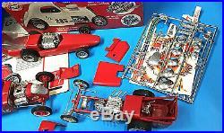 Vtg 1960s AMT Double Dragster 1/25 model orig Double Kit 3 built kits