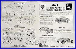 Vtg AMT Kit 1932 Model B Ford Deuce Street Rod Roadster 1/25 Scale 132