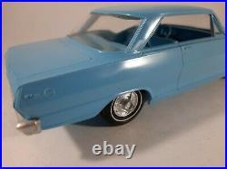 Vtg Blue Chevrolet Nova SS 1965 AMT Model Kit Plastic Car