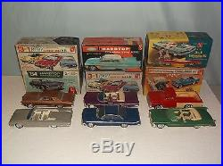 Vtg Lot of 6 AMT Restore Built Project Screwed Bottom Model Kit with Boxes 1/25