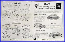 Vtg Unbuilt AMT Kit 1932 Model B Ford Deuce Street Rod Roadster 1/25 Scale 132